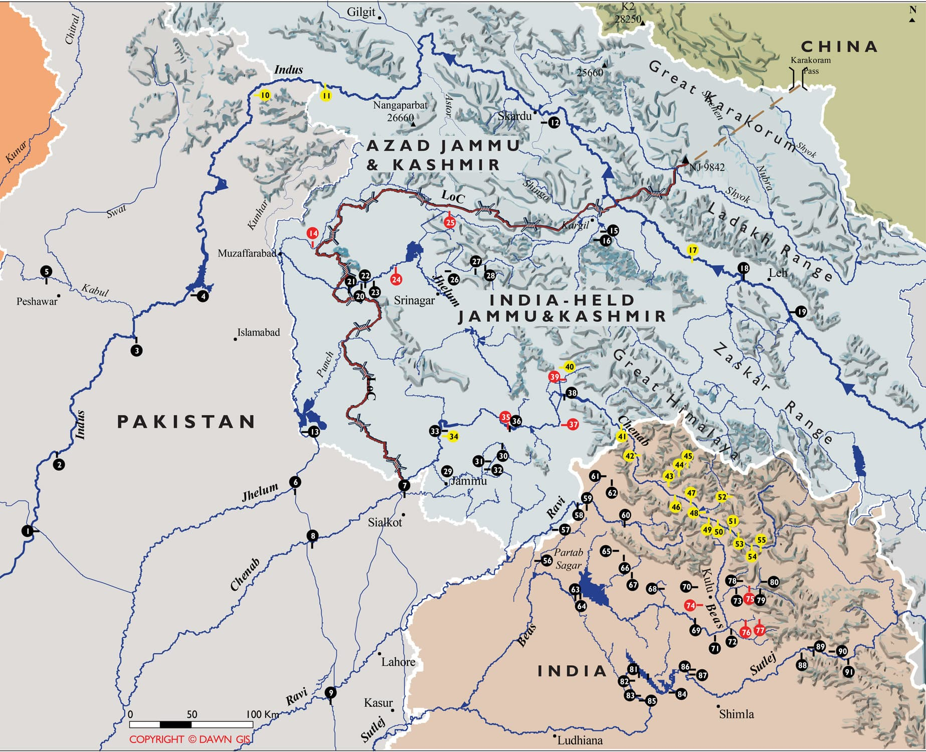 Indian Dams in Kashmir