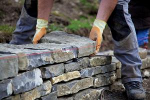 Construction of Stone Masonry Wall