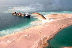 Palm Islands Dubai Construction